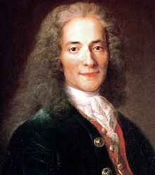 Voltaire at 24, by Catherine Lusurier after Nicolas de Largillière's painting