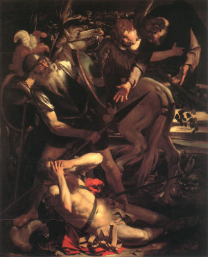 The Conversion of Paul by Carravaggio (1600)