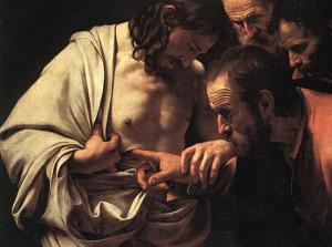 """The Incredulity of Saint Thomas"" by Michelangelo Merisi da Caravaggio (1601-1602)"
